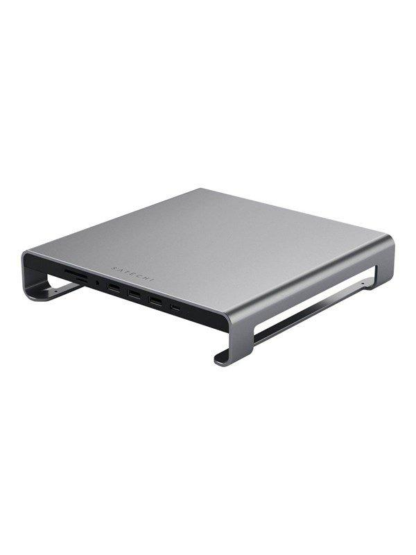 Satechi Type-C Aluminum Monitor Stand Hub for iMac - docking station + monitor stand