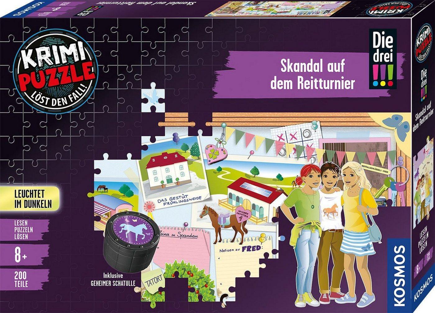 Kosmos Puzzle »Krimipuzzle Die drei !!! Skandal auf dem Reitturnier«, 200 Puzzleteile, Made in Germany