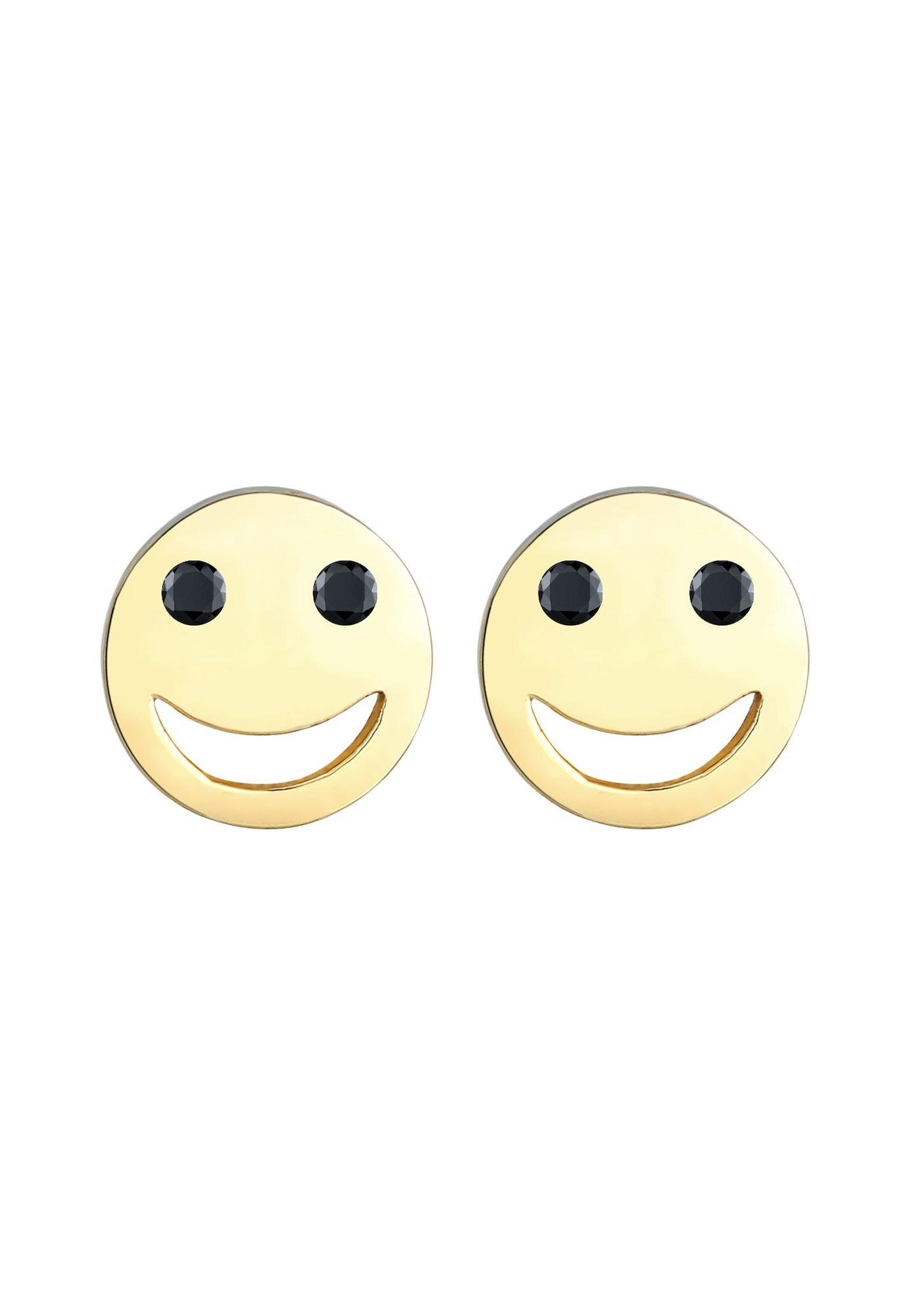 ELLI Ohrringe Smiley gold