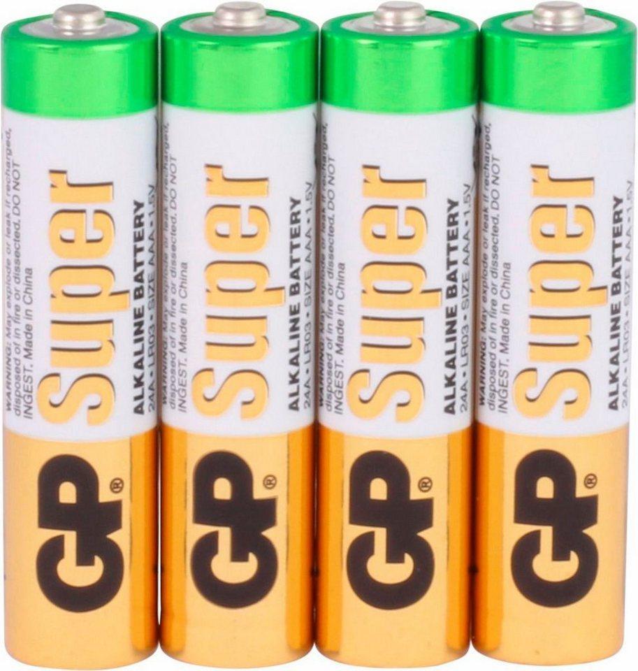 GP Batteries »Super Alkaline AAA« Batterie, LR03 (1,5 V, 4 St)