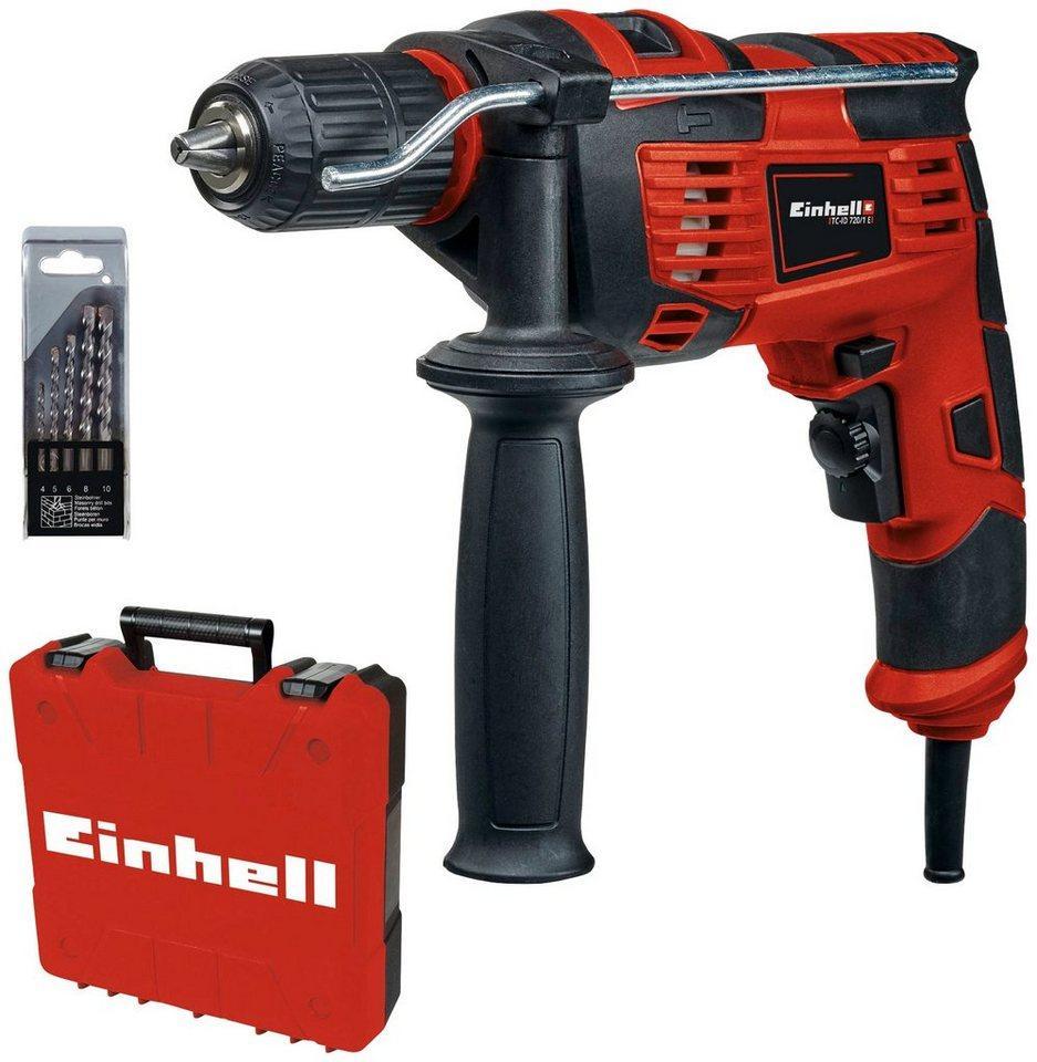 Einhell Schlagbohrmaschine »TC-ID 720/1 E Kit«, (Set, 3-tlg)