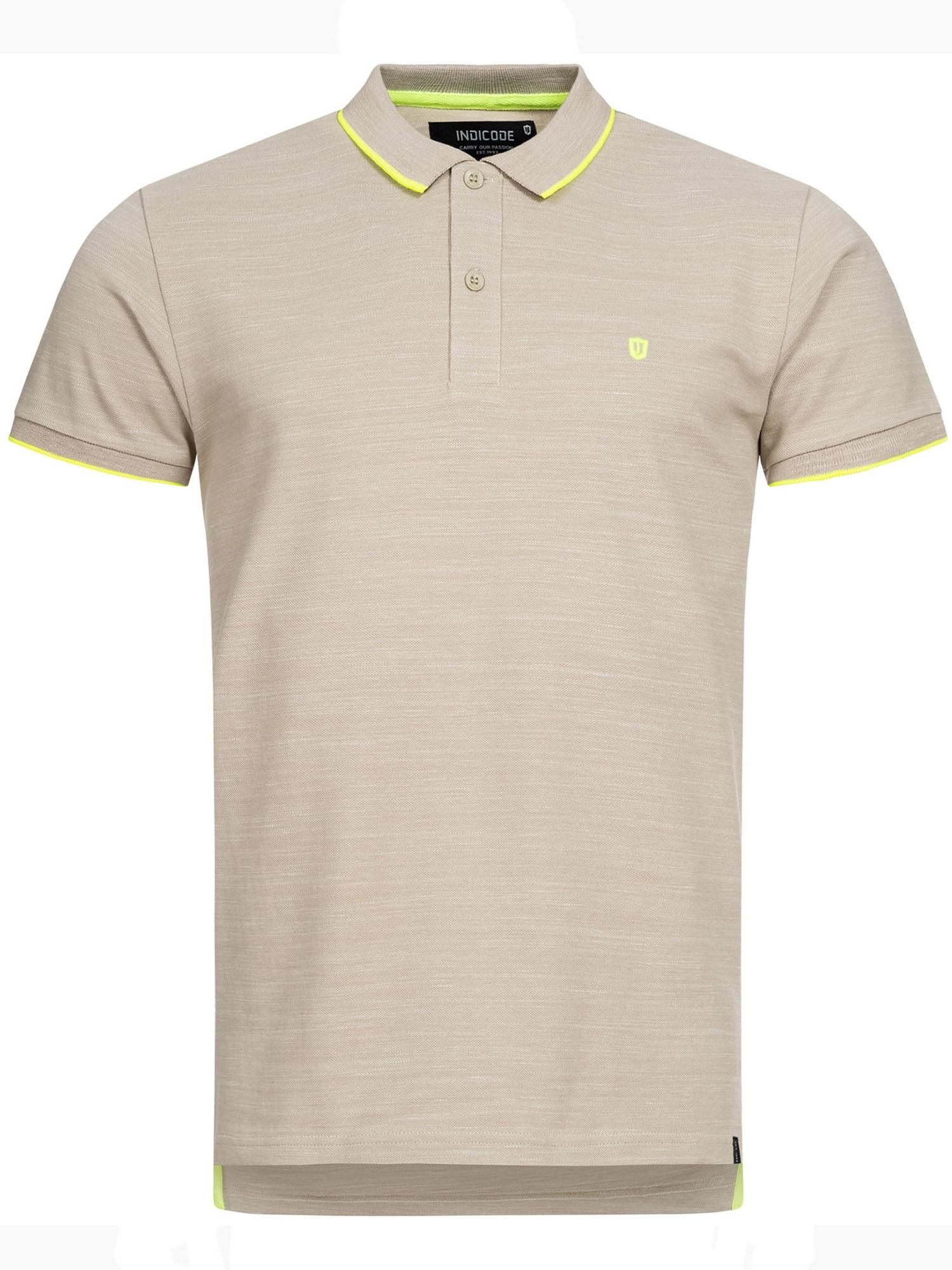 INDICODE JEANS Polo ' Mecklenburgh ' beige