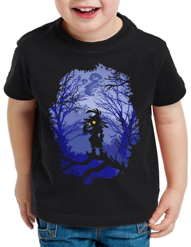 style3 Print-Shirt Kinder T-Shirt Skull Kid majoras mask n64 maske