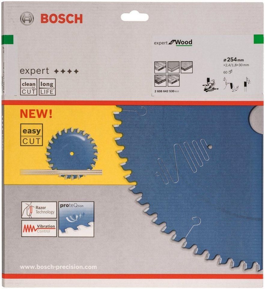 BOSCH Kreissägeblatt »Kreissägeblatt Expert for Wood«, 254 x 30 x 2,4 mm, 60