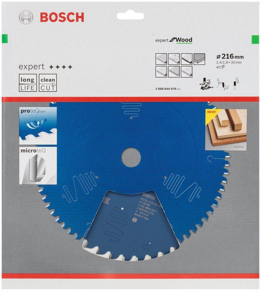 BOSCH Kreissägeblatt »Kreissägeblatt Expert for Wood«, 216 x 30 x 2,4 mm, 40