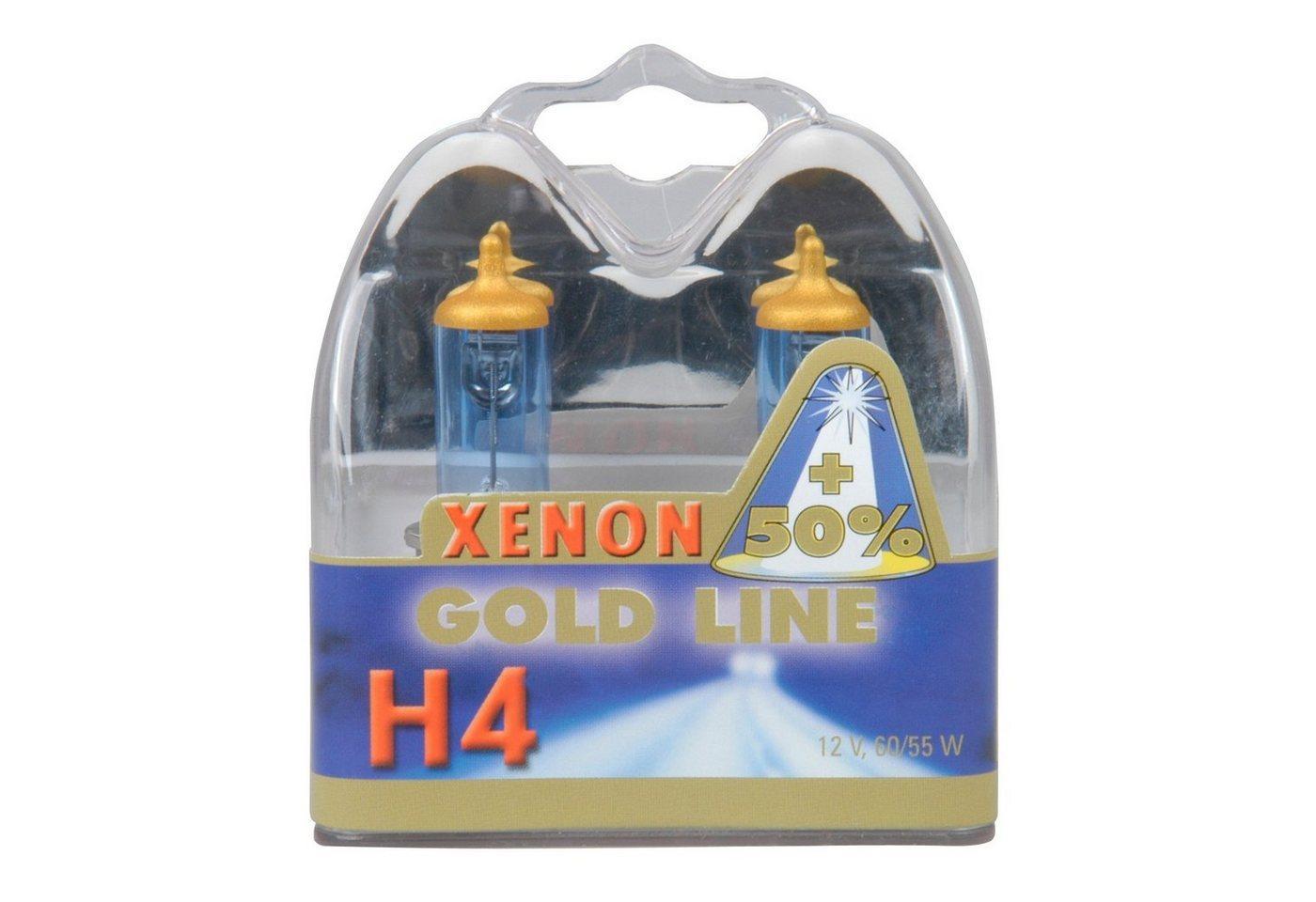 UNITEC »H4 Xenon Gold« Halogenlampe, 2 Stück, Tageslichtweiß