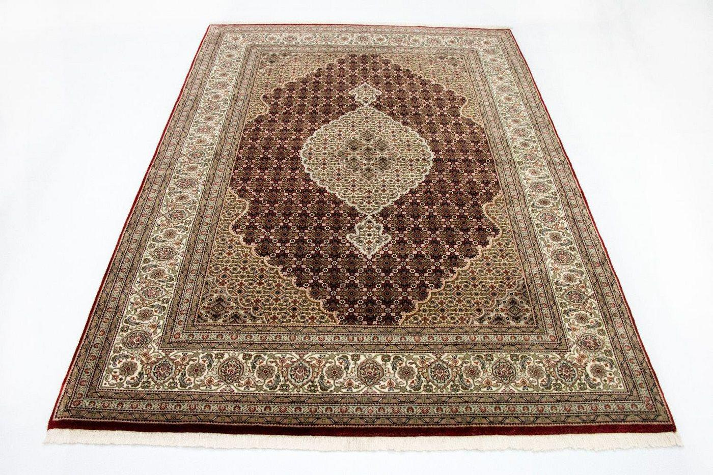 Teppich »Täbriz 50 Raj Teppich Mahi«, morgenland, rechteckig, Höhe 9 mm, rot