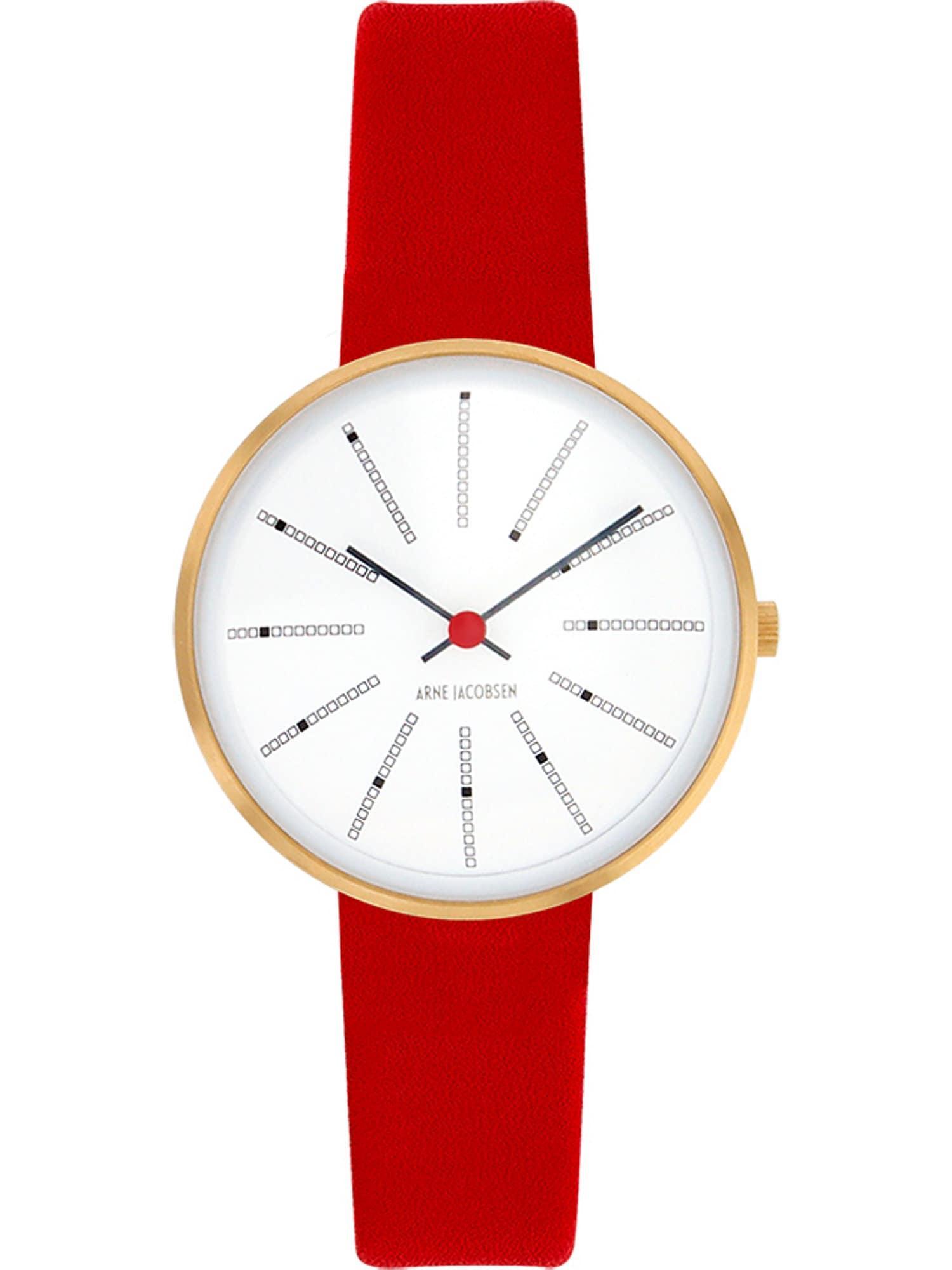 Arne Jacobsen Arne Jacobsen Damen-Uhren Analog Quarz ' ' rot