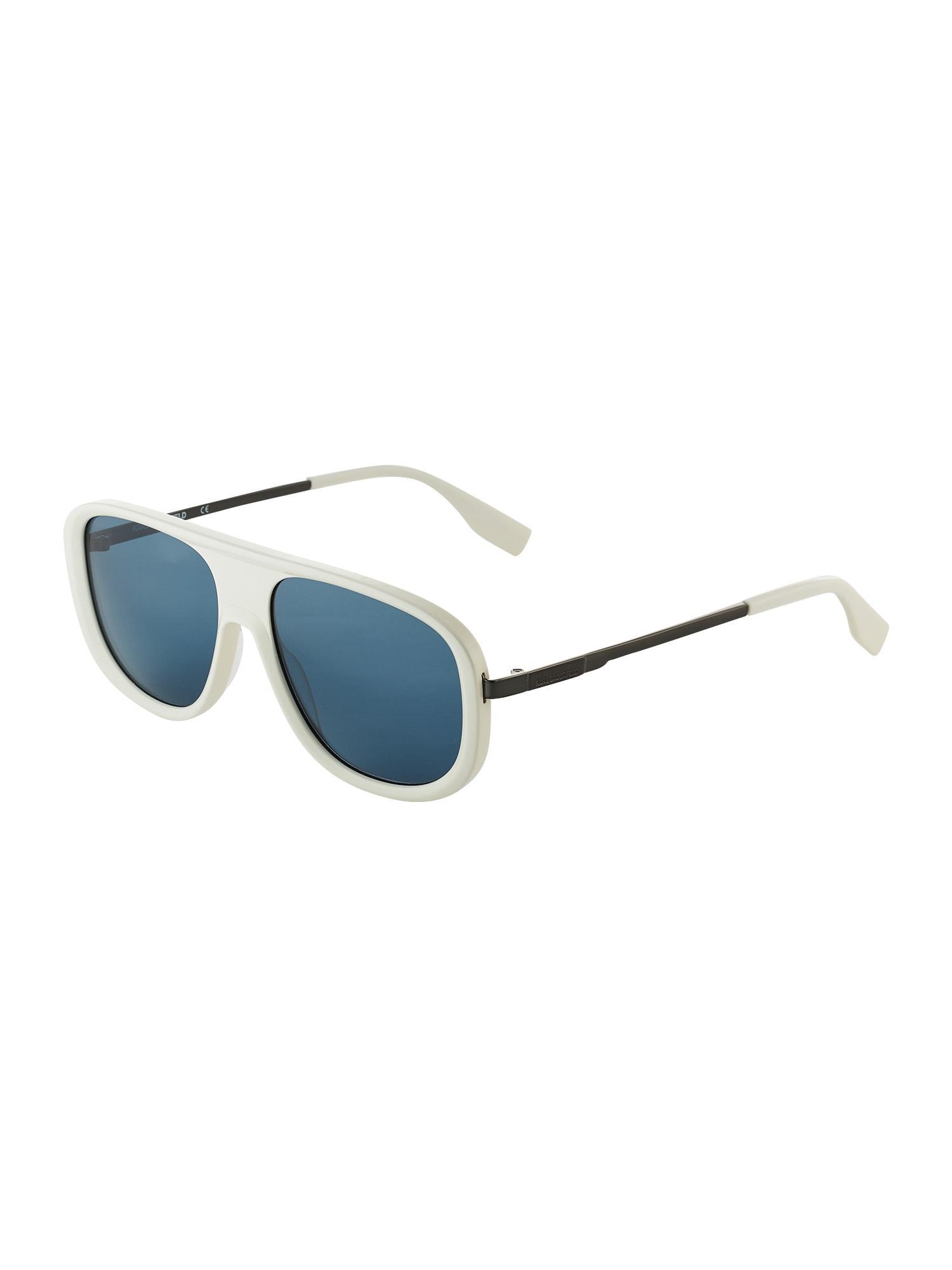 Karl Lagerfeld Sonnenbrille 'KL6032S' weiß / himmelblau
