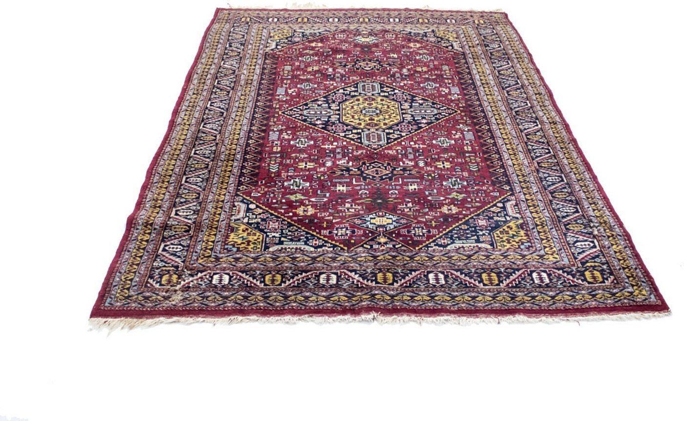 Wollteppich »Pakistan Teppich handgeknüpft rot«, morgenland, rechteckig, Höhe 5 mm