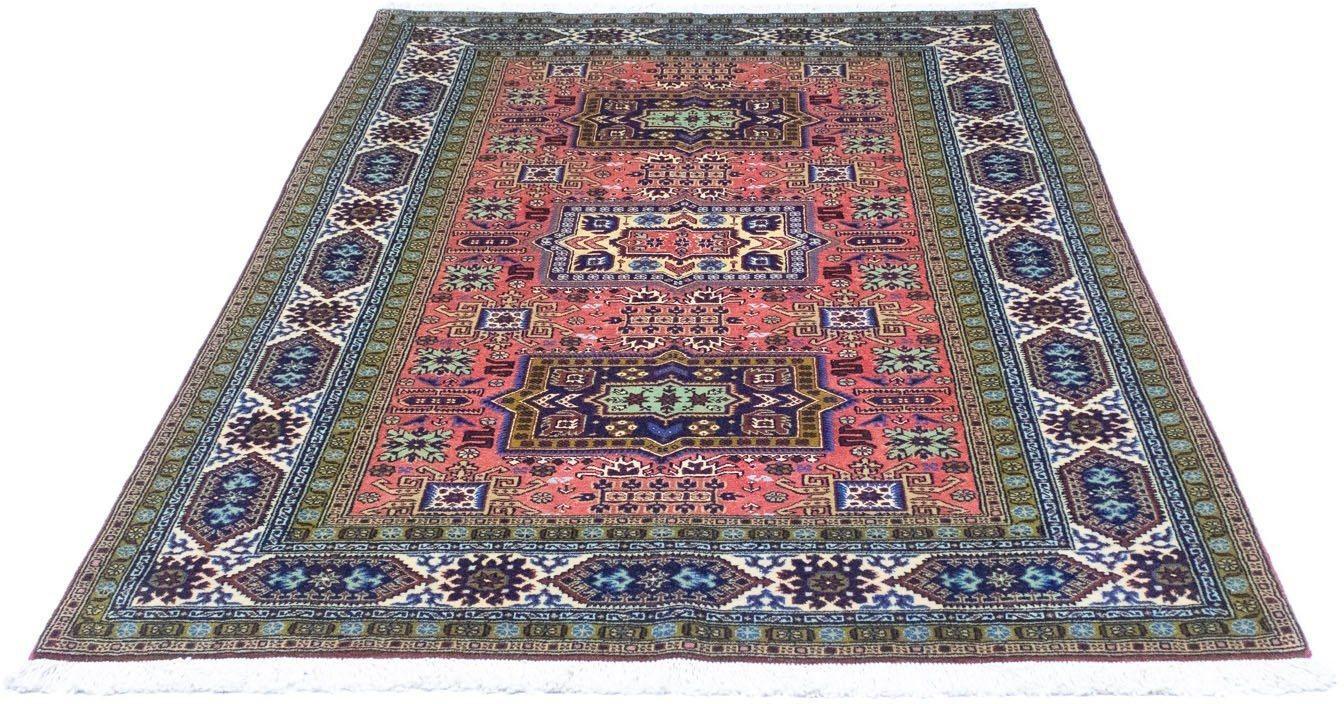 Teppich »Ardebil Teppich handgeknüpft lachs«, morgenland, rechteckig, Höhe 9 mm, handgeknüpft