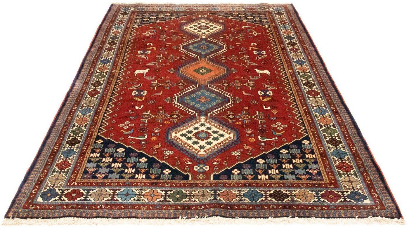 Wollteppich »Yalameh Teppich handgeknüpft rot«, morgenland, rechteckig, Höhe 8 mm, handgeknüpft