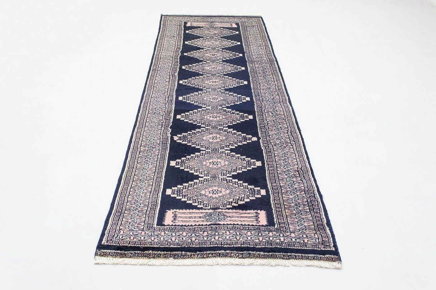 Wollteppich »Pakistan Teppich handgeknüpft blau«, morgenland, rechteckig, Höhe 7 mm