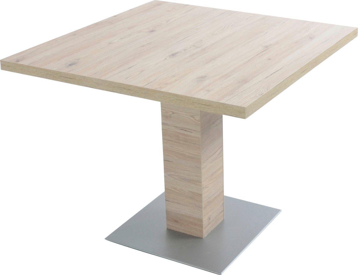 K+W Komfort & Wohnen Esstisch »Santos«, Esstisch quadratisch mit einer Säule