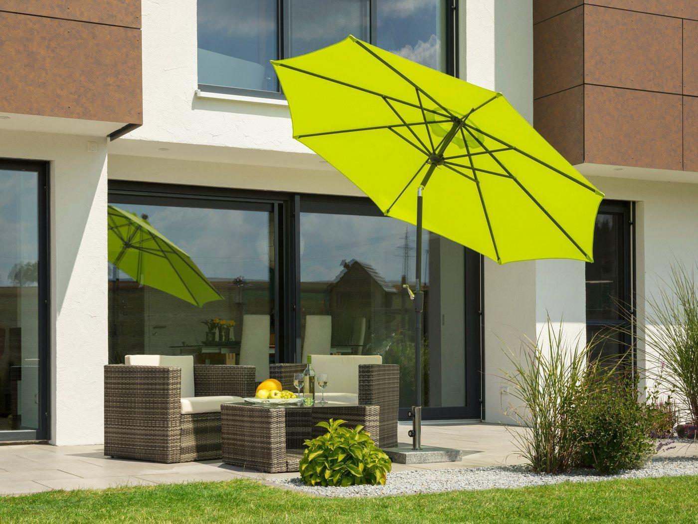 Schneider Schirme Sonnenschirm »Harlem«, ohne Schirmständer, grün
