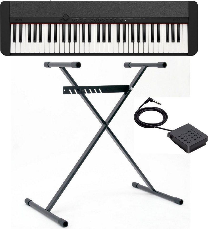 CASIO Keyboard »Piano-Keyboard-Set CT-S1BKSET«, (Set, inkl. Keyboardständer, Sustainpedal und Netzteil), ideal für Piano-Einsteiger und Klanggourmets;