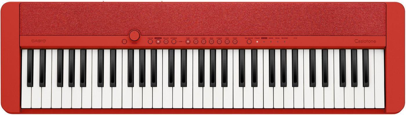 CASIO Keyboard »Piano-Keyboard CT-S1RDSP«, ideal für Piano-Einsteiger und Klanggourmets; inkl. Sustainpedal und Netzteil