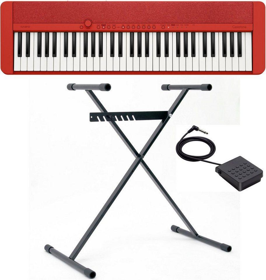 CASIO Keyboard »Piano-Keyboard-Set CT-S1RDSET«, (Set, inkl. Keyboardständer, Sustainpedal und Netzteil), ideal für Piano-Einsteiger und Klanggourmets;