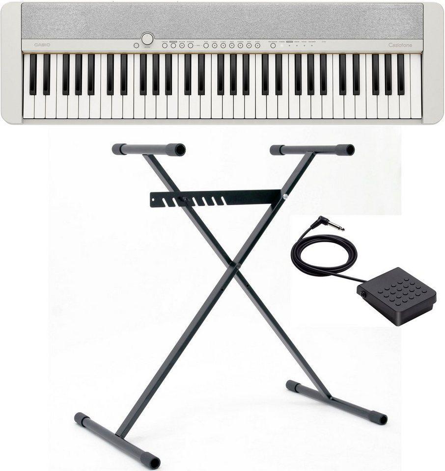 CASIO Keyboard »Piano-Keyboard-Set CT-S1WESET«, (Set, inkl. Keyboardständer, Sustainpedal und Netzteil), ideal für Piano-Einsteiger und Klanggourmets;