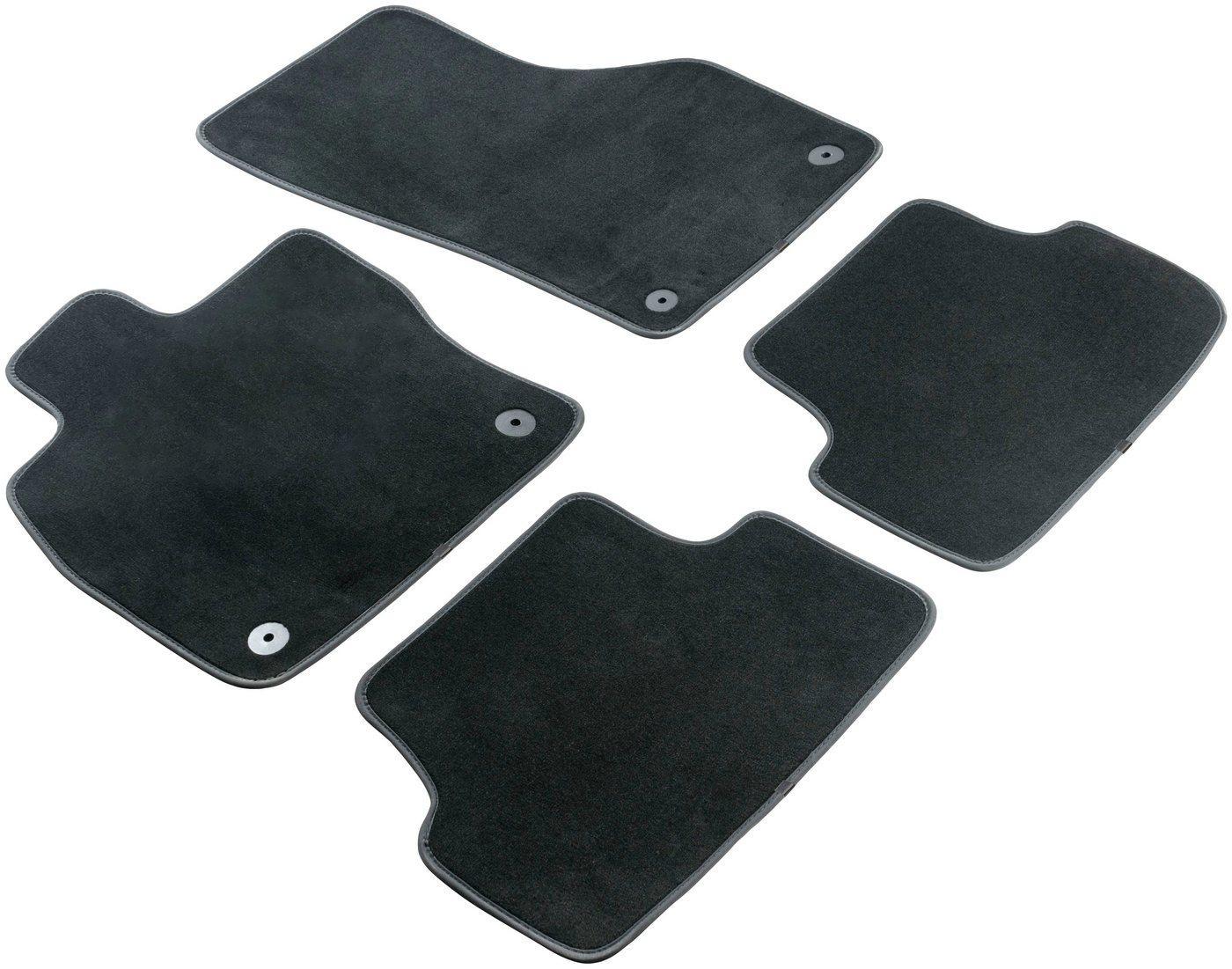 WALSER Passform-Fußmatten »Premium« (4 Stück), für Renault Kangoo Rapid, Kangoo Express, Kangoo ZE