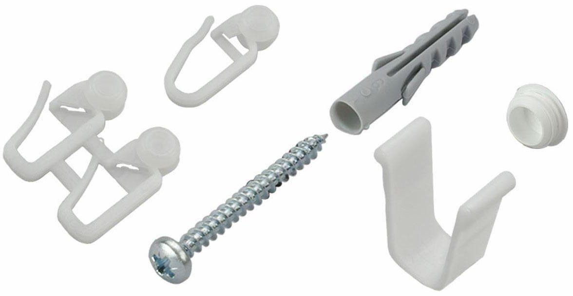 Sichtschutzbefestigungen Zubehör-Set »für 2-3-läufige Gardinenschienen«, Liedeco