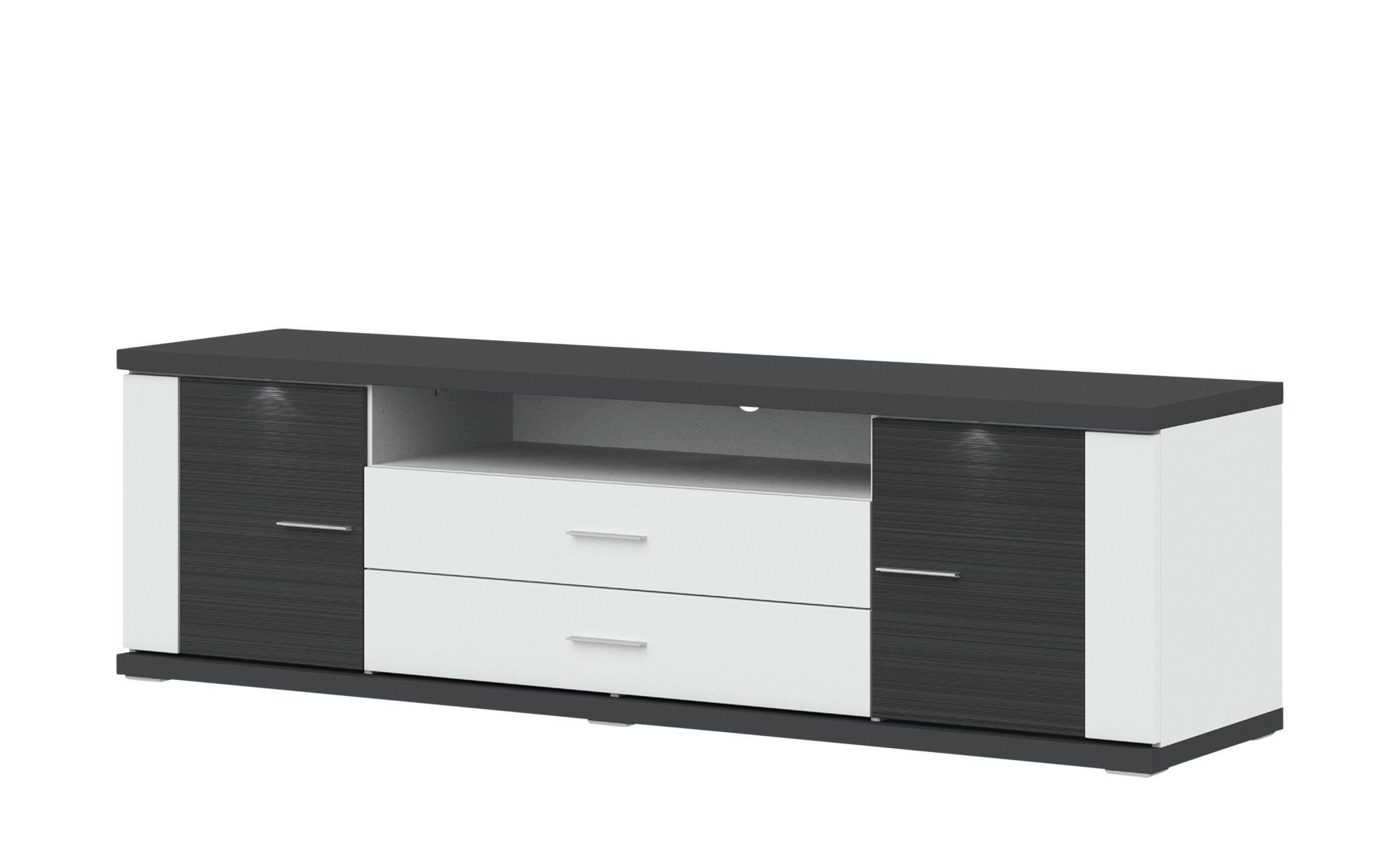 uno Lowboard Toulon - grau - 207 cm - 60 cm - 52 cm - Sconto
