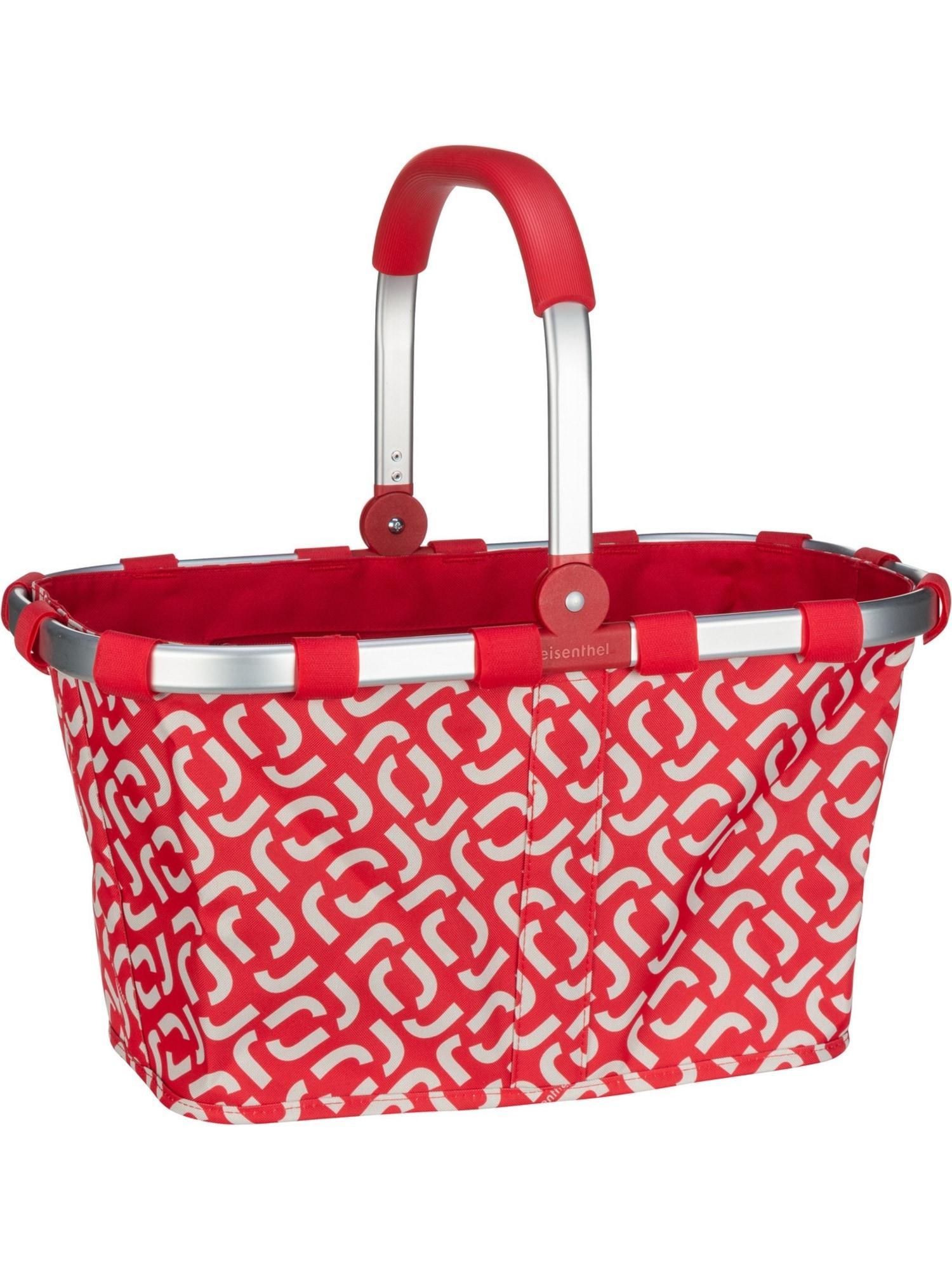 REISENTHEL Einkaufstasche rot / weiß