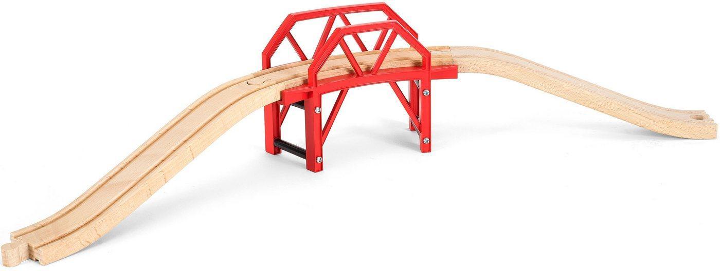 BRIO® Spielzeugeisenbahn-Brücke »BRIO® WORLD Bahnbrücke mit Auffahrten«, FSC®-Holz aus gewissenhaft bewirtschafteten Wäldern