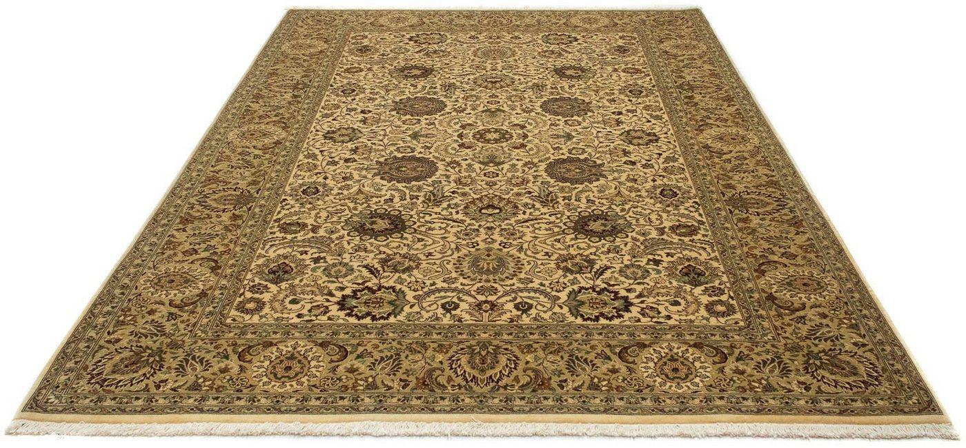 Wollteppich »Kerman Teppich handgeknüpft beige«, morgenland, rechteckig, Höhe 8 mm