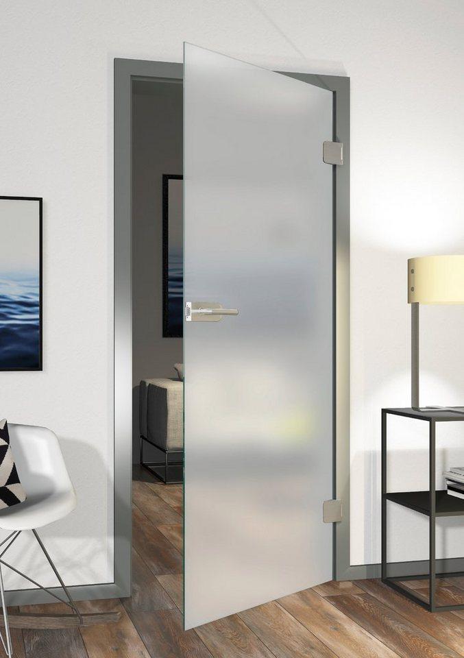 Glastür »Eivind, Satinato 11/01«, 70,9x197,2 cm, DIN rechts