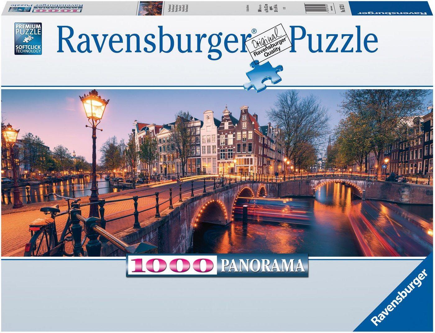 Ravensburger Puzzle »Abend in Amsterdam«, 1000 Puzzleteile, FSC® - schützt Wald - weltweit; Made in Germany