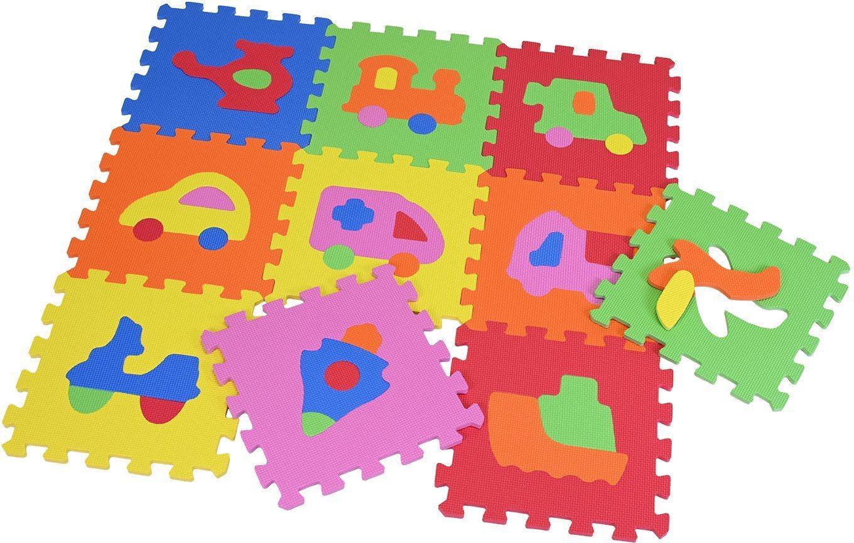 Knorrtoys® Puzzle »Fahrzeuge«, 10 Puzzleteile, Puzzlematte, Bodenpuzzle