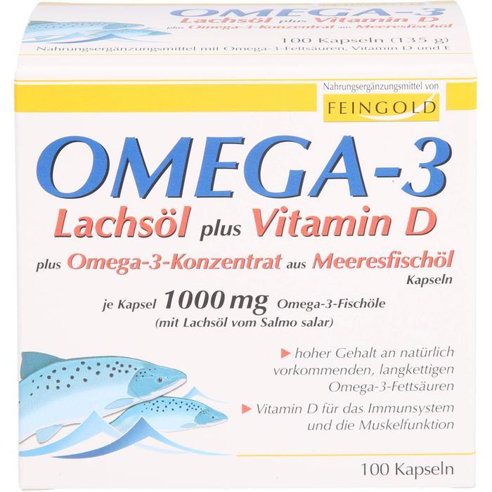 OMEGA-3 Lachsöl plus Vit.D plus Omega3 Konz.Kps. 100 St.