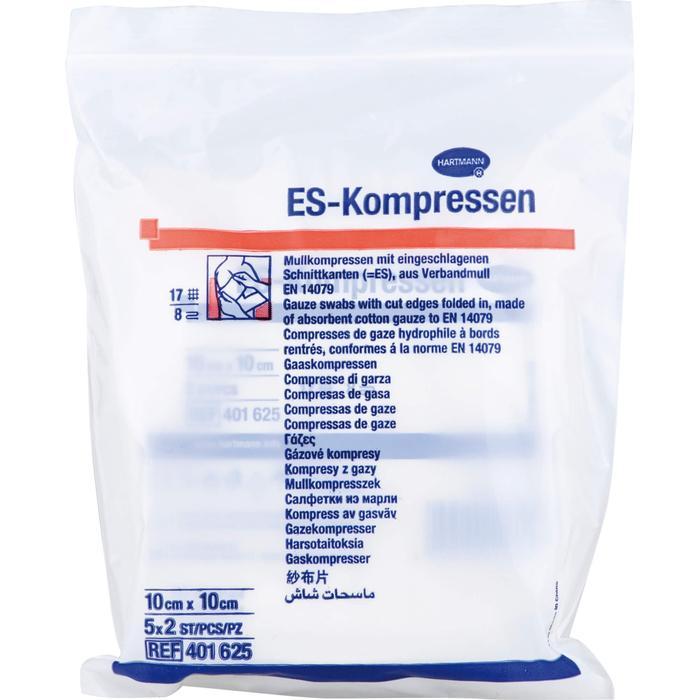 ES-KOMPRESSEN steril 7,5x7,5 cm 8fach 10 St.