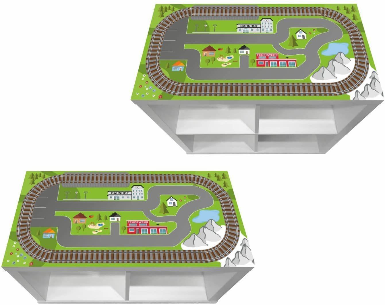 """STIKKIPIX Möbelfolie »KSWK06«, (MÖBEL NICHT INKLUSIVE) Aufkleber """"Eisenbahn"""", passend für das Regal KALLAX von IKEA"""