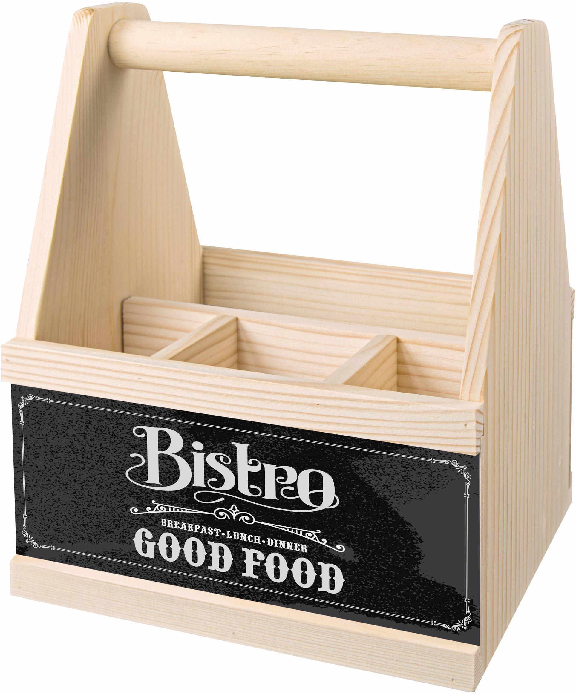 Contento Besteckträger Bistro Good Food beige Küchen-Ordnungshelfer Küchenhelfer Küche