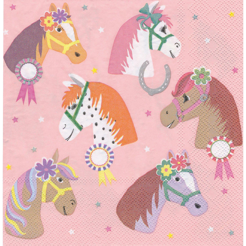 "Papierservietten ""Pferde"", 33 x 33 cm, 20 Stück"