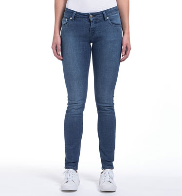 MUD Jeans Skinny Fit Jeans Lilly - pure blue